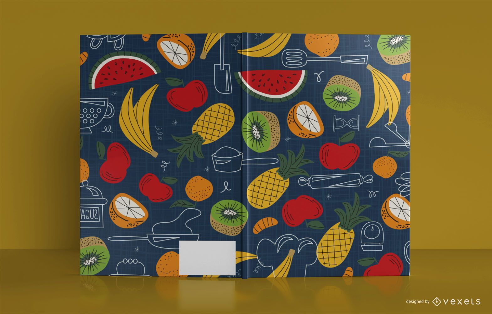 Artistic Food Journal Book Cover Design
