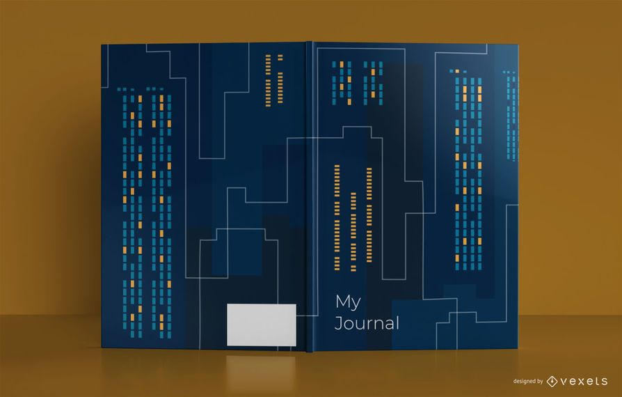 Design de capa de livro de diário de horizonte