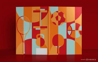 Design de capa de livro de esportes artísticos