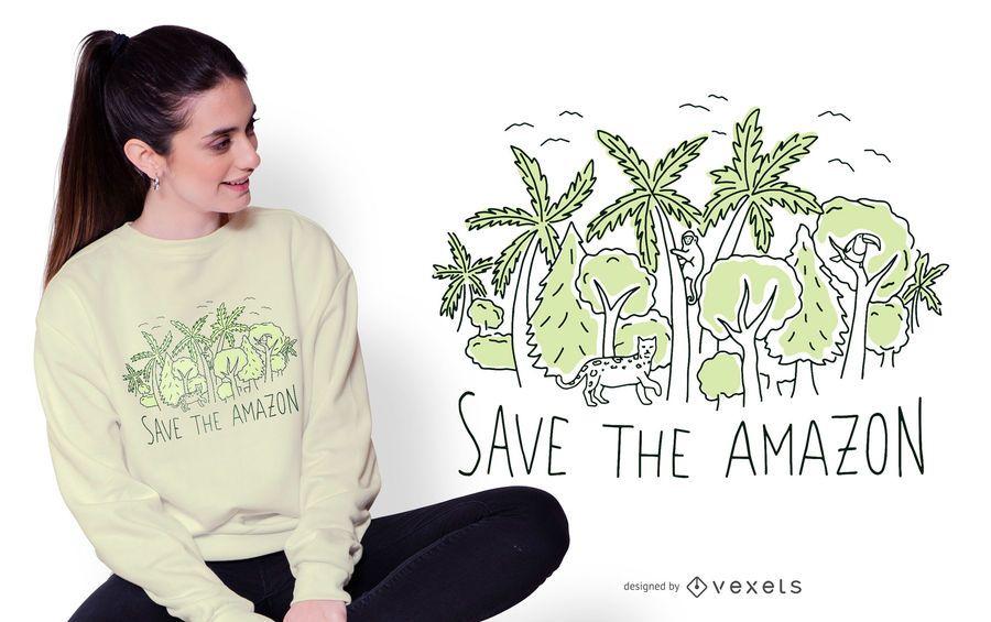 Save the amazon t-shirt design