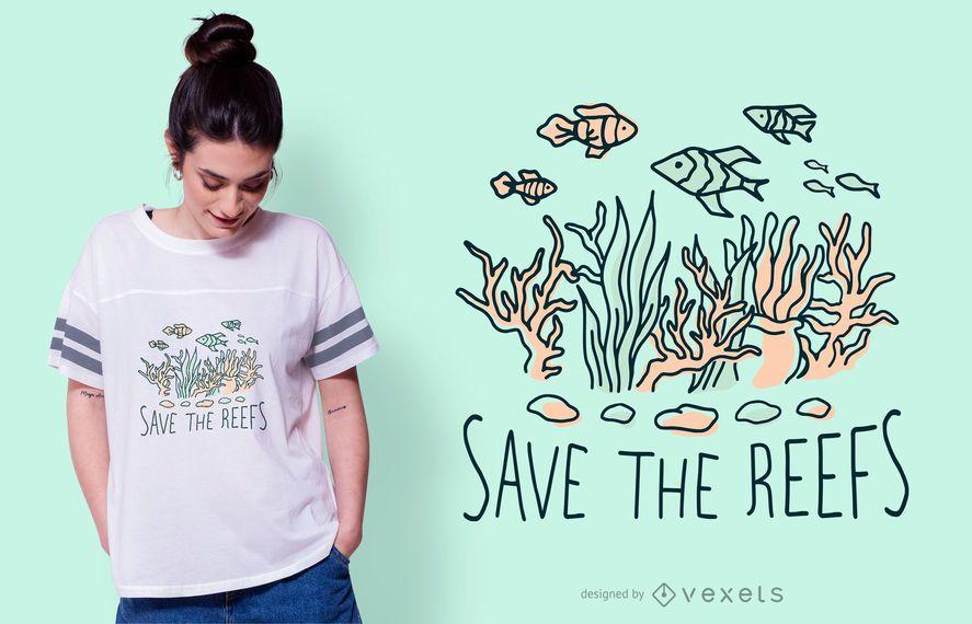 Diseño de camiseta Save the Reefs