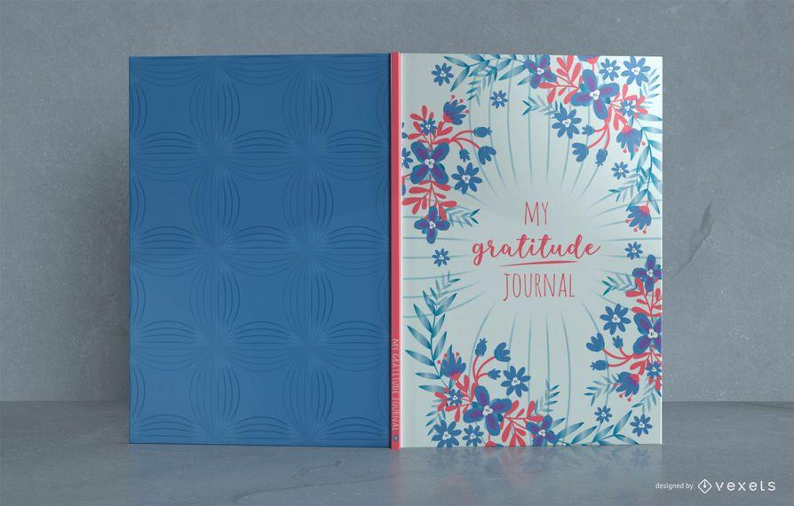 Floral Gratitude Journal Book Cover Design