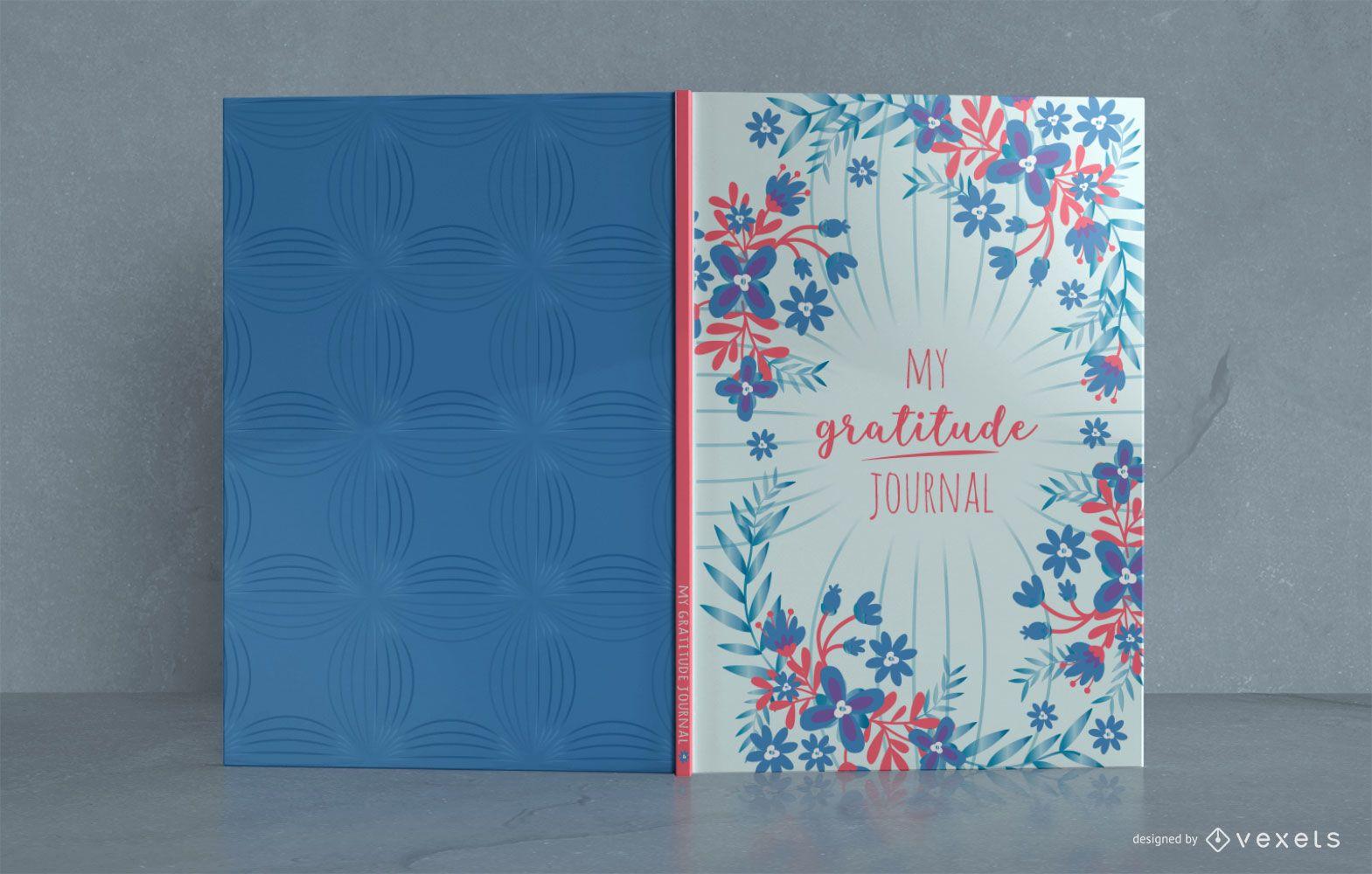 Design floral da capa do livro do Gratitude Journal