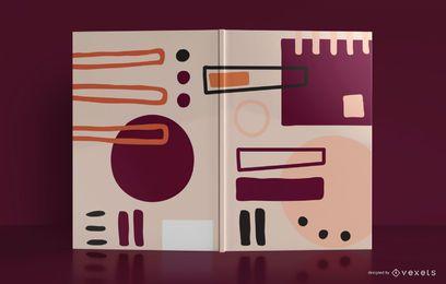 Abstraktes Notizbuch-Bucheinband-Design