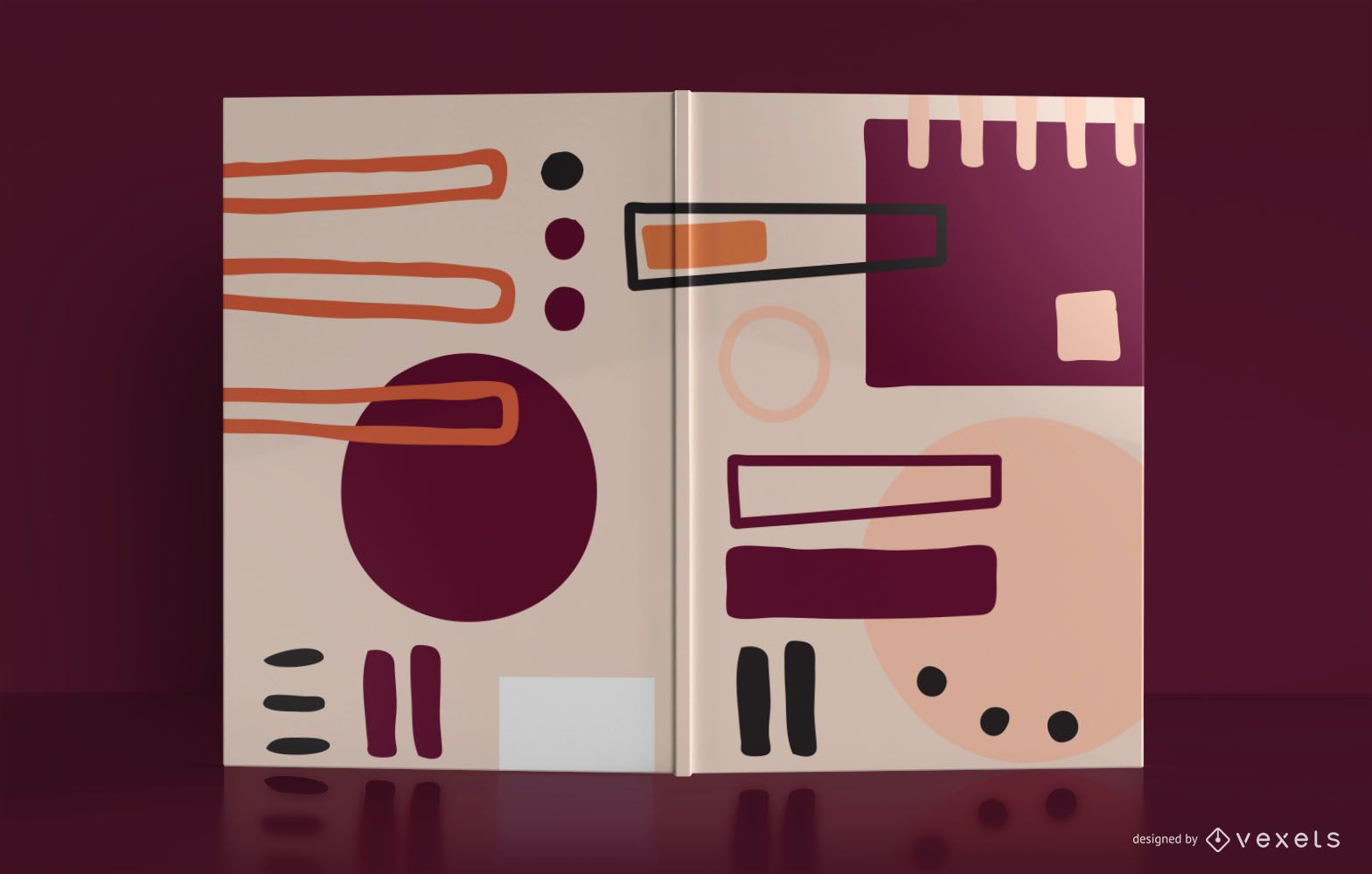 Abstract Notebook Book Cover Design