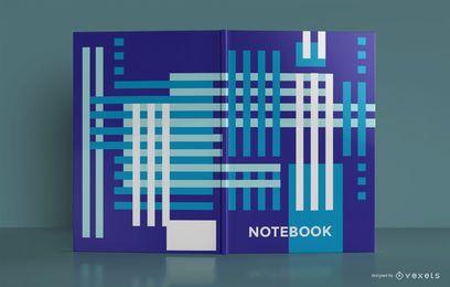 Design de capa de livro abstrato azul