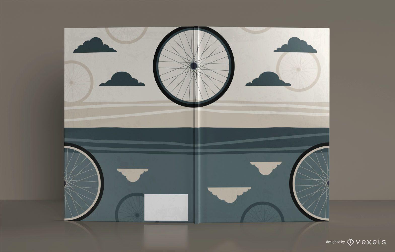 Desenho de capa de livro de caderno de desenho de bicicleta