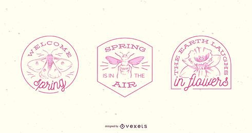 Spring badge set