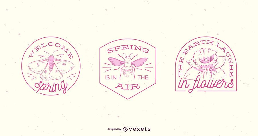 Spring badge set