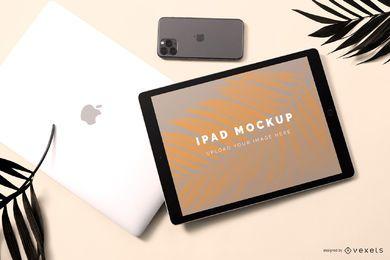Composición de maqueta de ipad pro
