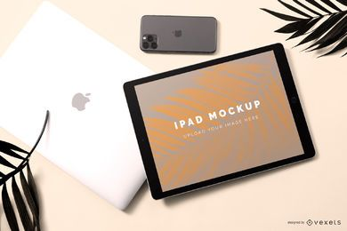 Ipad pro mockup composition
