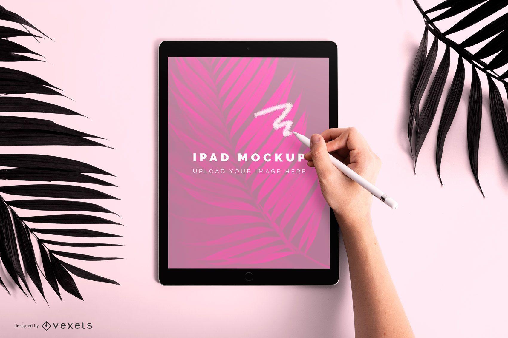 Ipad drawing mockup design