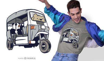 Projeto do t-shirt dos ursos de Tuk Tuk