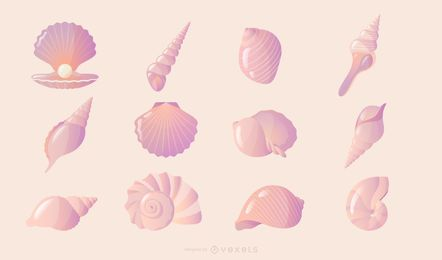Seashell gradient collection