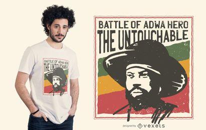 Diseño de camiseta de la batalla de Adwa