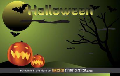 Halloween - Kürbisse in der Nacht