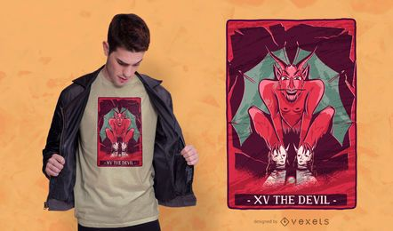 Design de t-shirt de diabo de tarô
