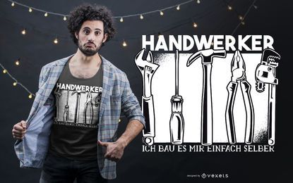 Handworker alemão t-shirt Design