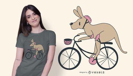 Design de t-shirt de bicicleta canguru