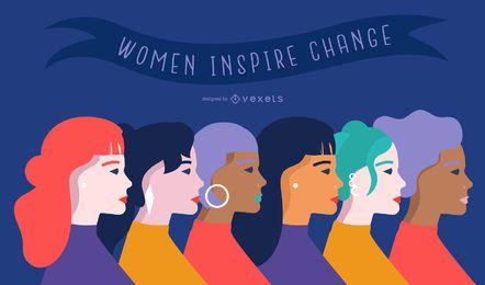 Dia da mulher ilustração plana