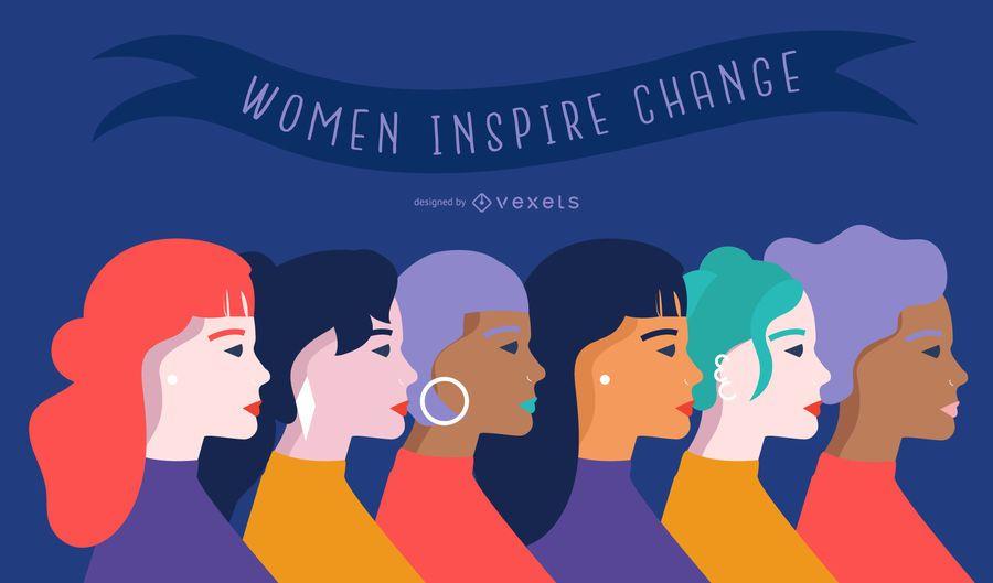Women's day flat illustration