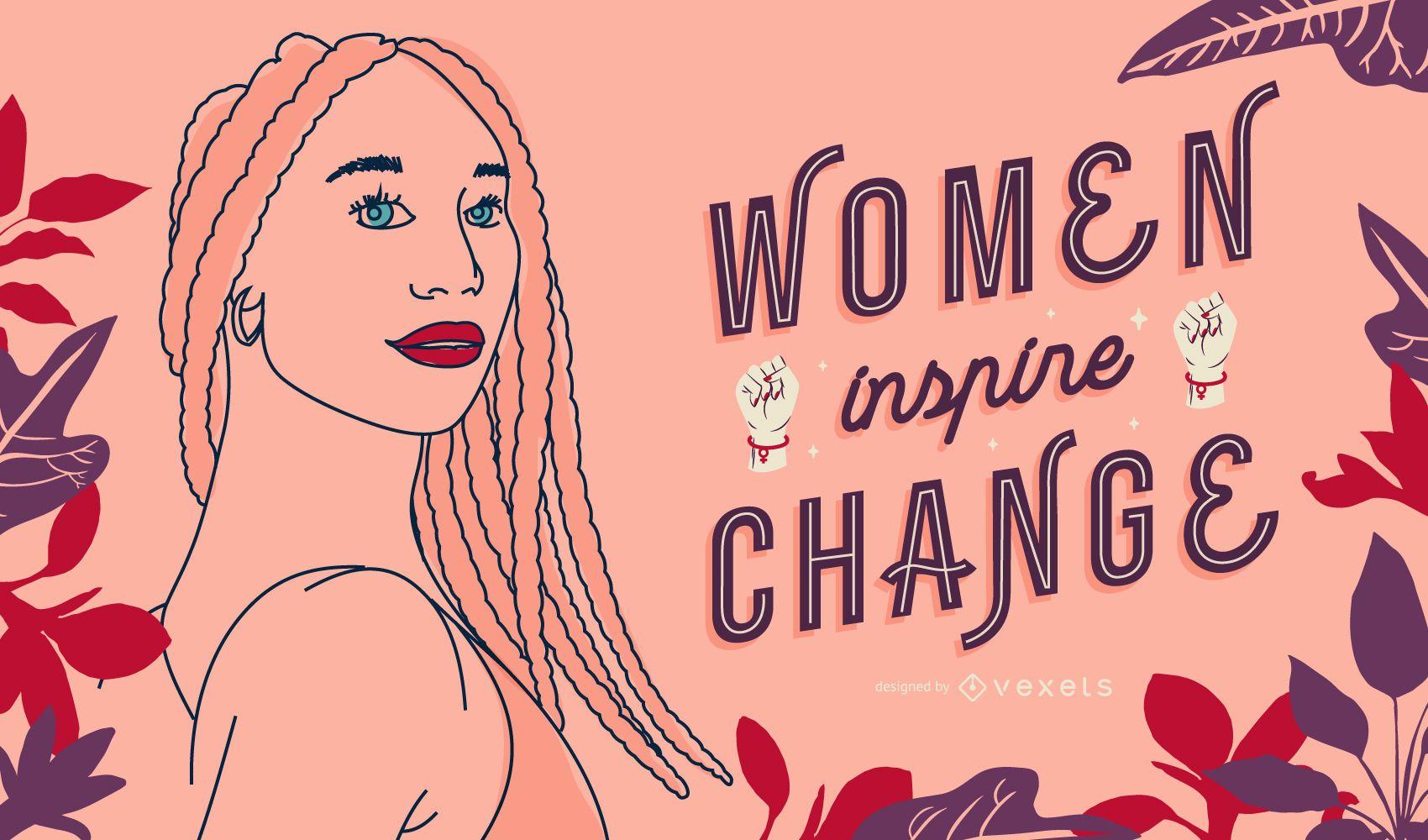 Desenho de ilustração para o dia da mulher