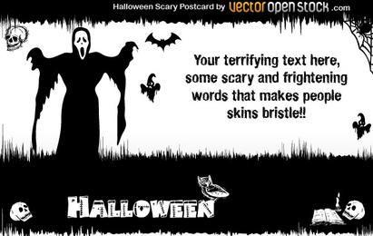 Dia das Bruxas - Cartão Postal assustador