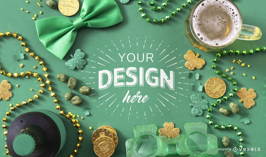 St Patrick's day mockup composition