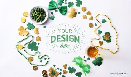 St. Patricks Frame Mockup Zusammensetzung