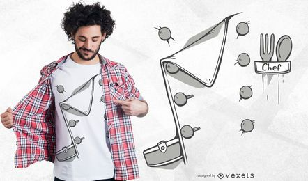 Design de t-shirt de camisa de traje de chef