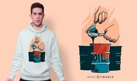 Design de camiseta de exploração de óleo
