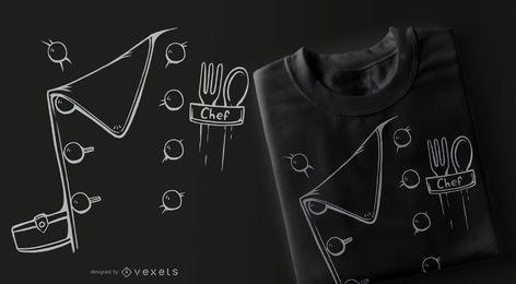 Design de camisetas para fantasias de chef