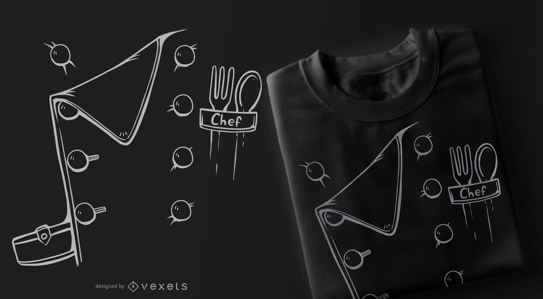 Chef Costume T-shirt Design