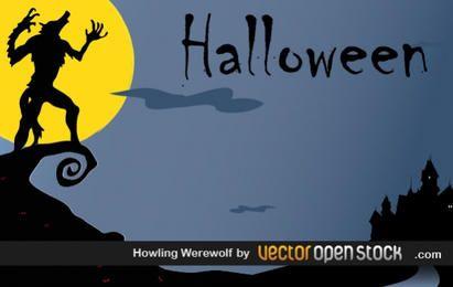 Halloween - Hombre lobo aullando