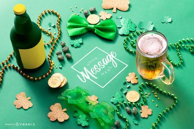 St. Patrick's day mockup composition