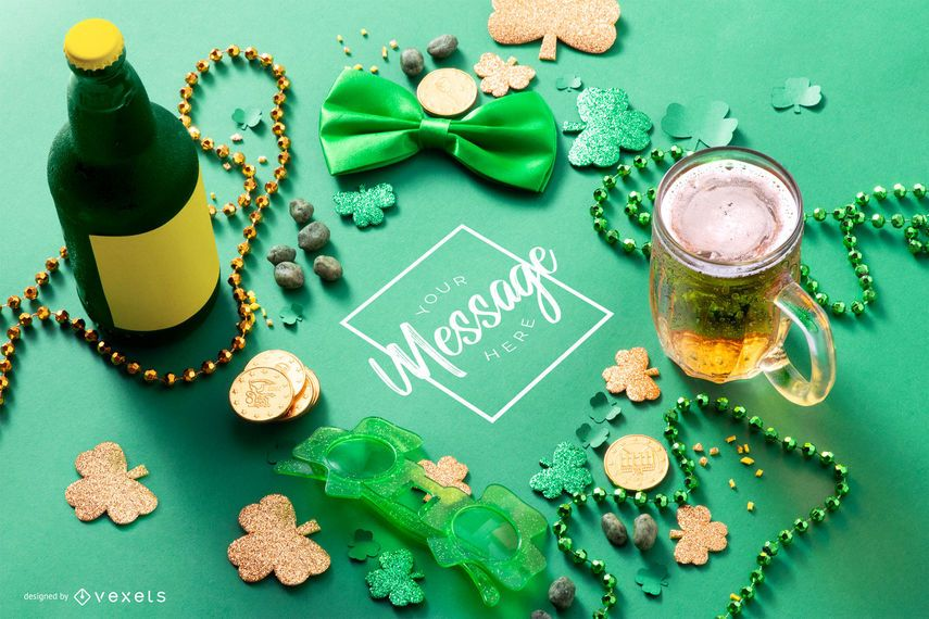 St. Patrick's day mockup composition