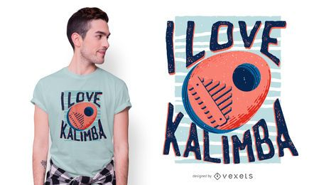 Love kalimba t-shirt design