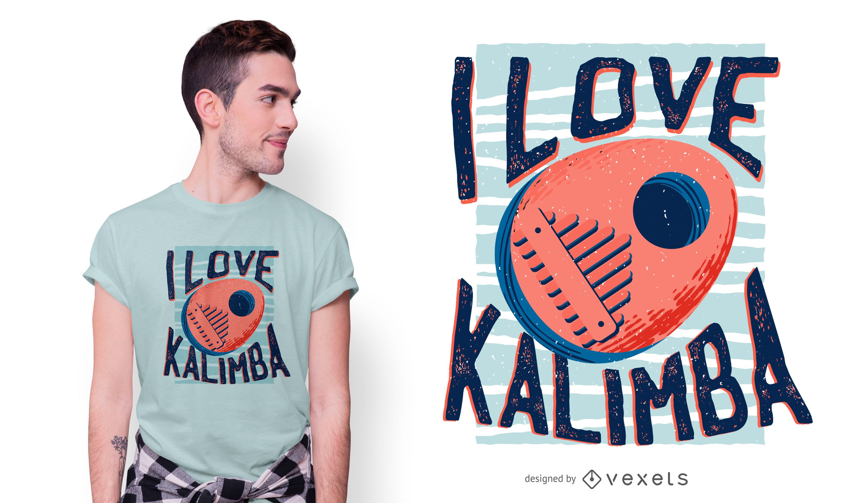 Love kalimba t-shirt design