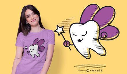 Design de t-shirt da fada dos dentes