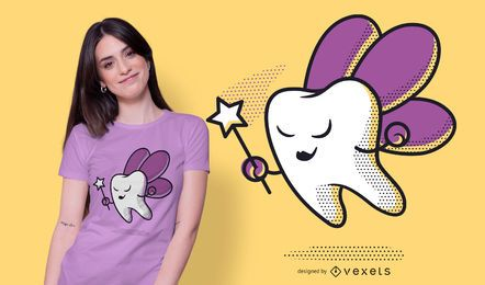 Diseño de camiseta de hada de los dientes