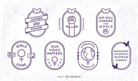 Conjunto de distintivo de AVC feminino