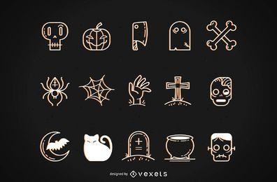 Halloween Funky Vectors Set