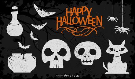 Paquete de vectores de halloween