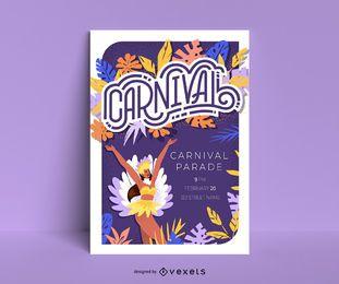 Modelo de cartaz de carnaval