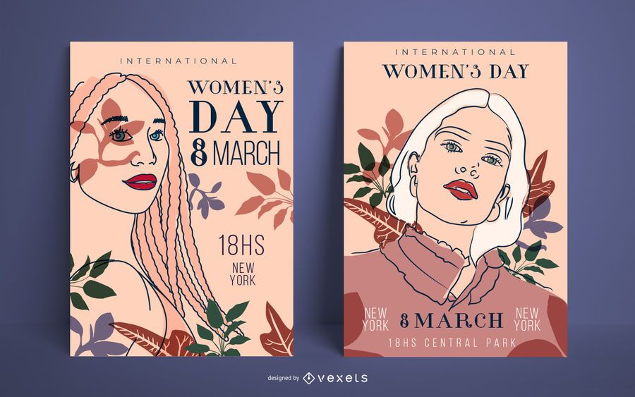 Women's day poster set