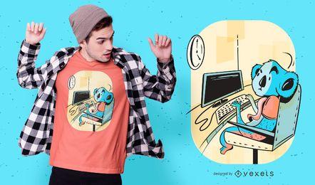 Design de t-shirt do escritório Koala