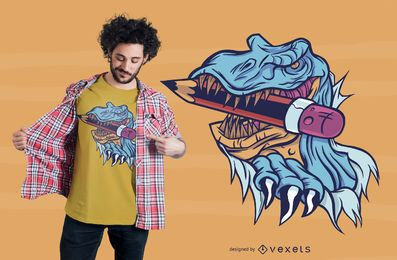 School T-rex T-shirt Design