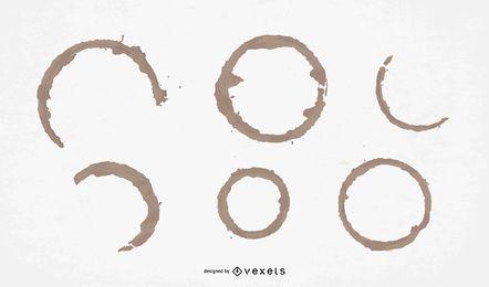 Paquete de diseño de anillo de café