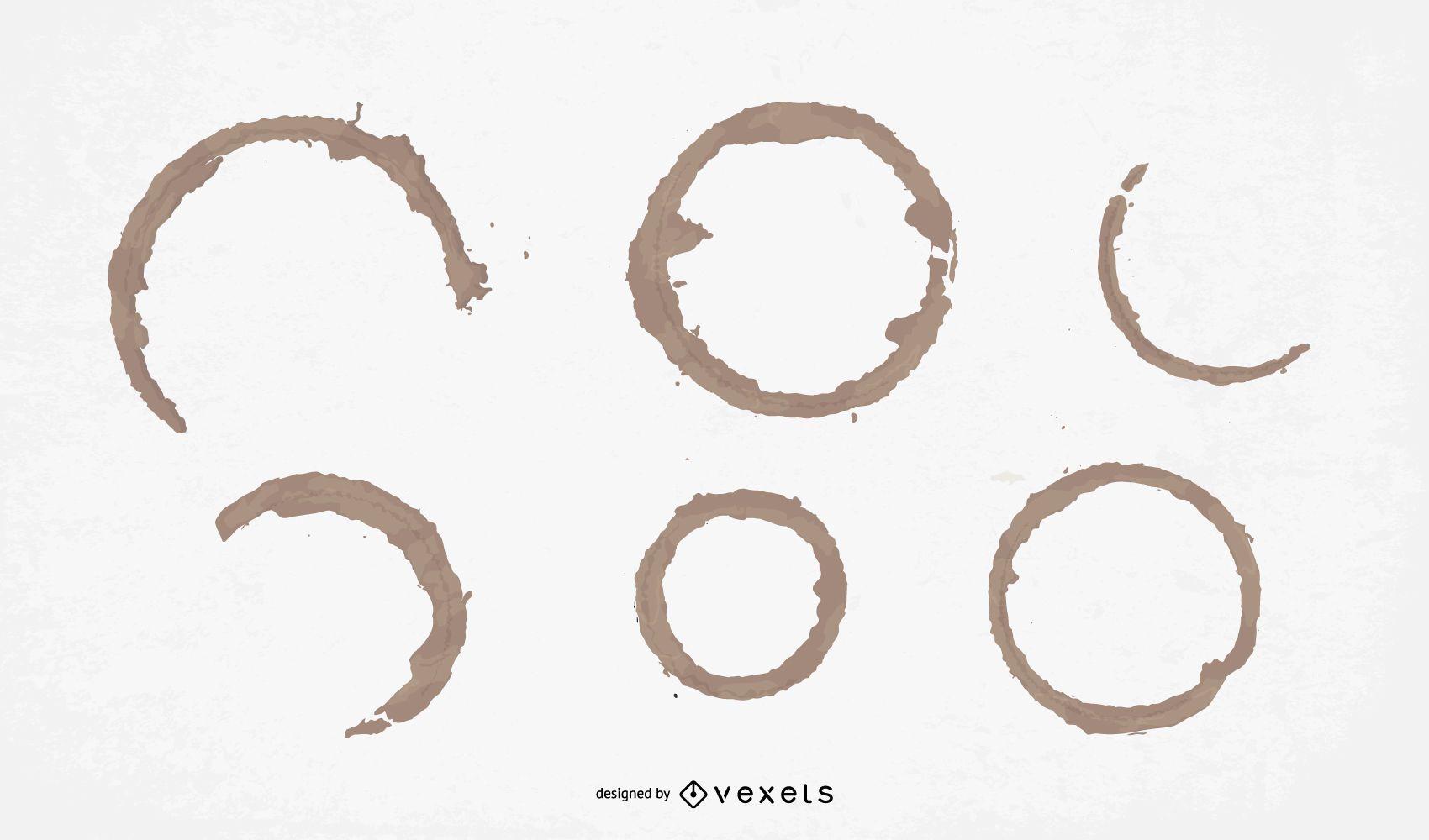 Paquete de diseño de anillos de café