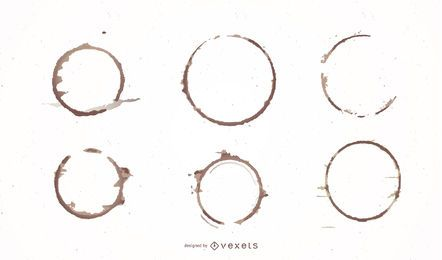Conjunto de design de anel de café